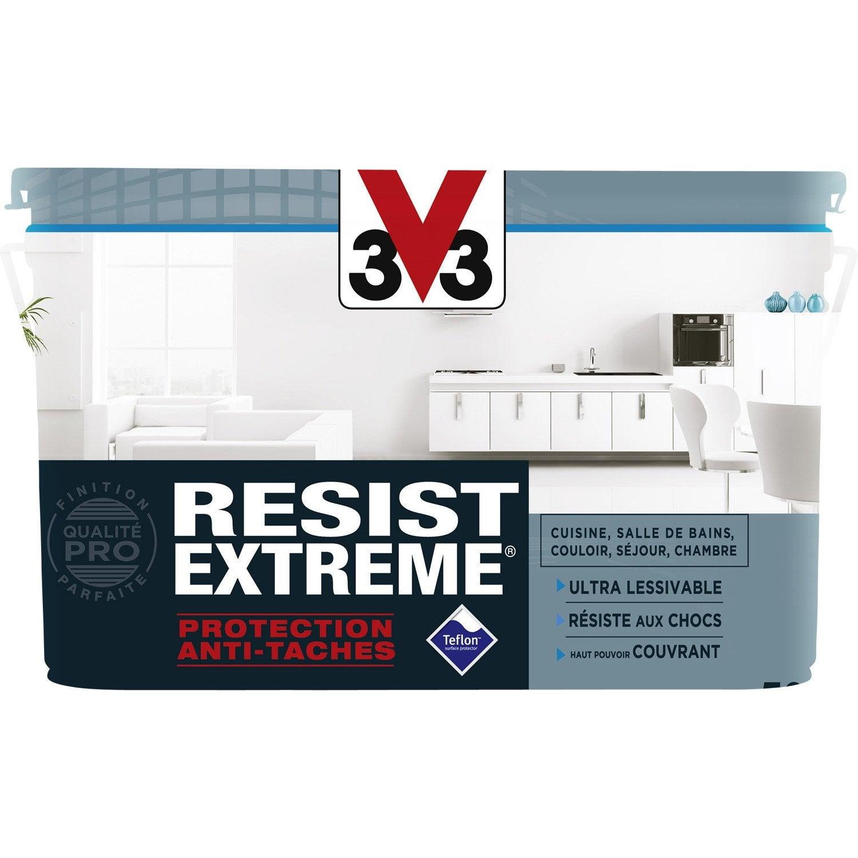 Peinture blanche mur plafond et boiserie resist 39 extr me - Peinture salle de bain v33 ...