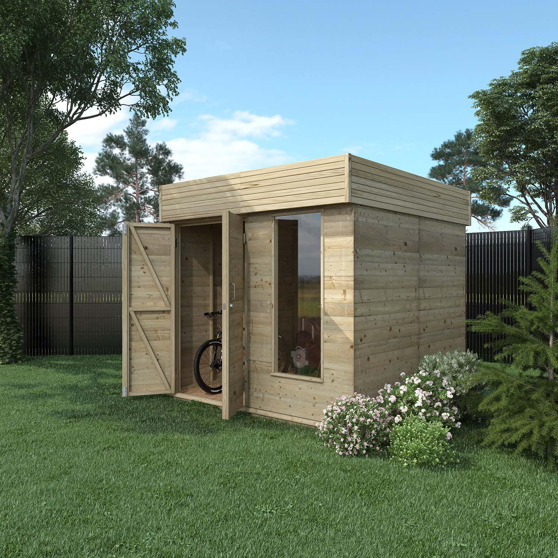 Abri de jardin bois Hutta, 4.8 m² Ep.15 mm | Leroy Merlin