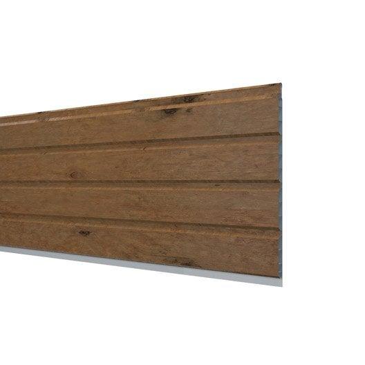 Sous face de toiture chêne pvc L.3 m | Leroy Merlin
