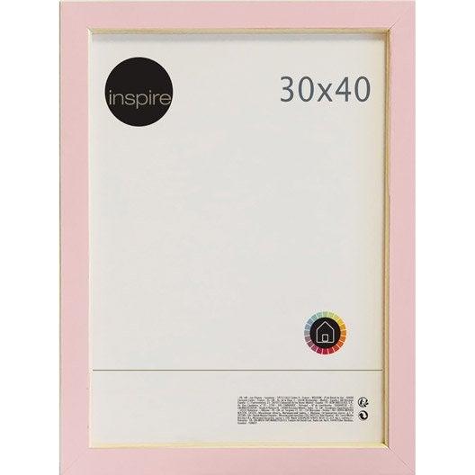 Cadre bistyle 30 x 40 cm rose leroy merlin - Leroy merlin marcos 30x40 ...
