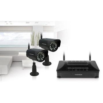 Kit de vidéosurveillance connecté sans fil, intérieur extérieur THOMSON  Dvr-421b 9bace4de3781
