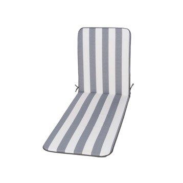 Coussin de bain de soleil blanc / gris  biarritz