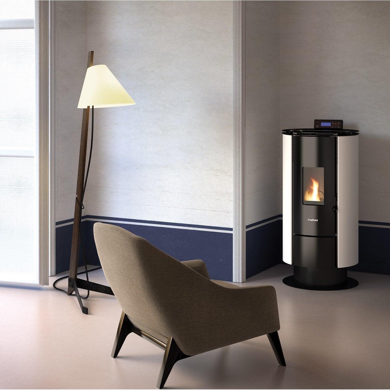 po le granul s freepoint flute blanc 6 5 kw leroy merlin. Black Bedroom Furniture Sets. Home Design Ideas