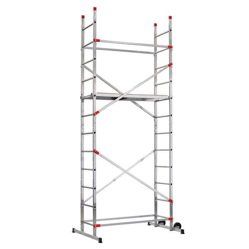 Echafaudage Aluminium Fast Lock 5 Hailo Hauteur De Travail 44 M