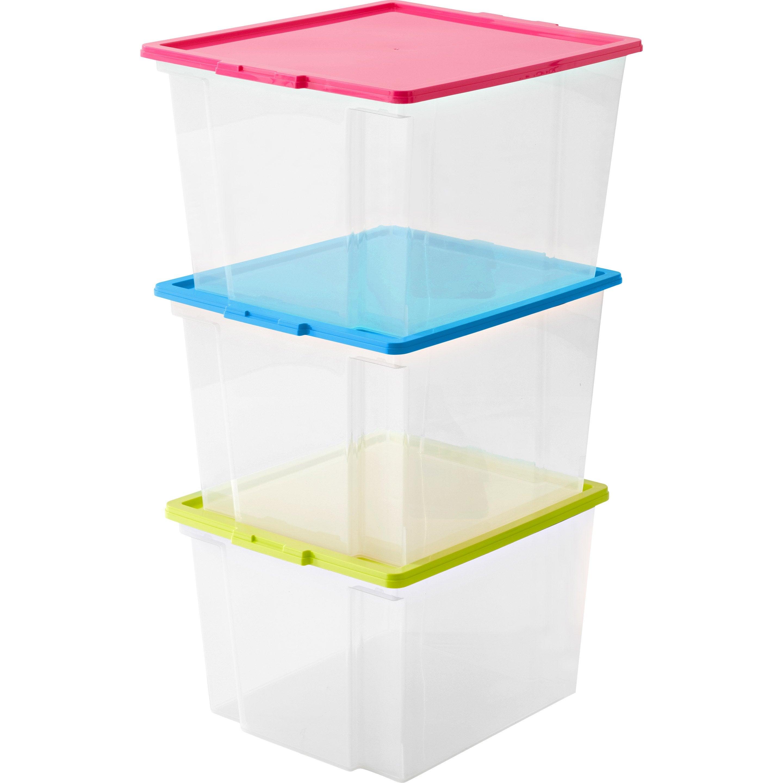 Lot De 3 Boites Plastique
