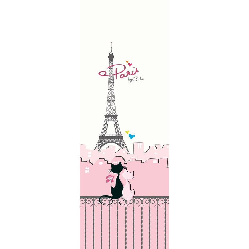 Papier Peint Intissé Les Aventures Paris By Cats Rose Leroy Merlin