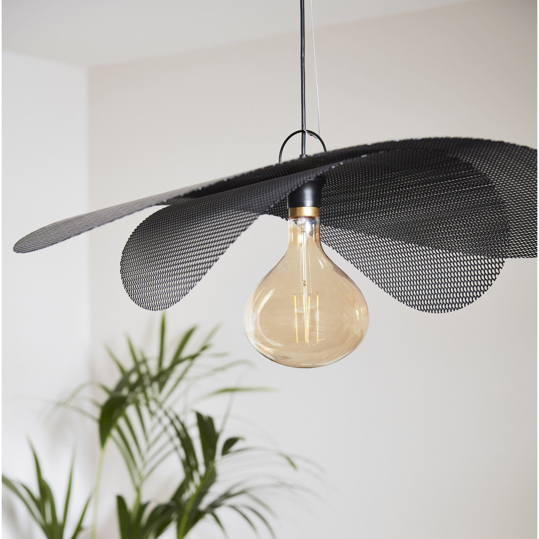 Suspension, design métal noir METROPOLIGHT Double Voile 1 lumière(s) D.76.5 cm