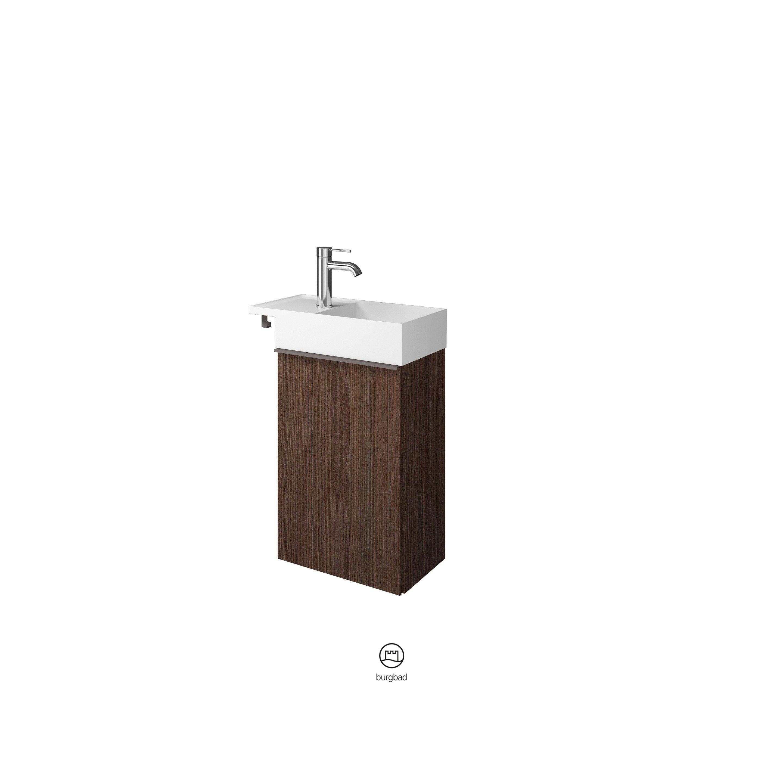 Comment Installer Un Lave Main Avec Meuble meuble lave-mains, l.40 x h.60.1, wengué, bois marron foncé, lina