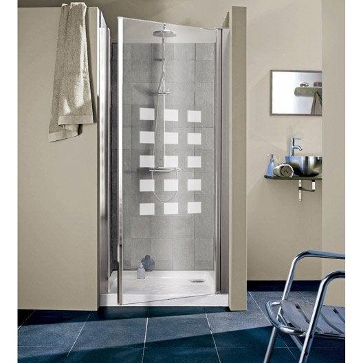 Porte de douche pivotante 97 101 cm profil chrom hekla - Porte vitree de douche ...