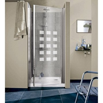 Porte de douche pivotante 97/101 cm profilé chromé, Hekla