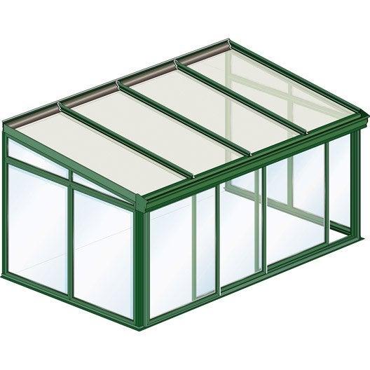 V randa en kit arcachon toiture droite gamme tradition easylux 2 1 x 2 1 m - Toiture veranda leroy merlin ...
