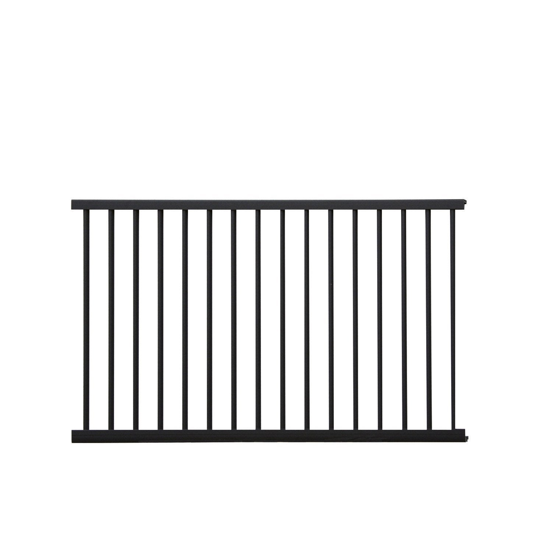 echelle pour garde corps kital aluminium noir x cm leroy merlin. Black Bedroom Furniture Sets. Home Design Ideas