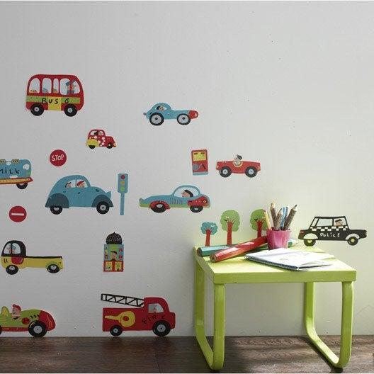 sticker les voitures 49 x 69 cm leroy merlin. Black Bedroom Furniture Sets. Home Design Ideas