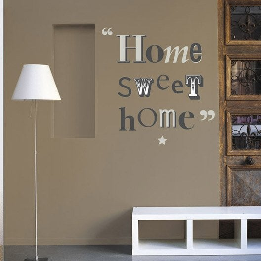 Sticker home sweet home 49 x 69 cm leroy merlin for Leroy merlin stickers cuisine