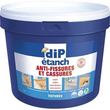 Rev tement d 39 tanch it toiture anti fissures dip gris 2 5l - Dip etanche anti infiltration ...