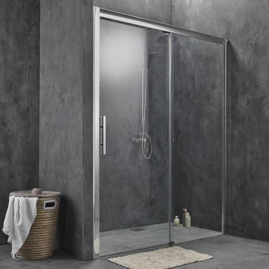 porte de douche coulissante 170 cm transparent adena. Black Bedroom Furniture Sets. Home Design Ideas