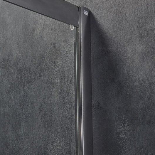 porte de douche coulissante 140 cm transparent adena leroy merlin. Black Bedroom Furniture Sets. Home Design Ideas