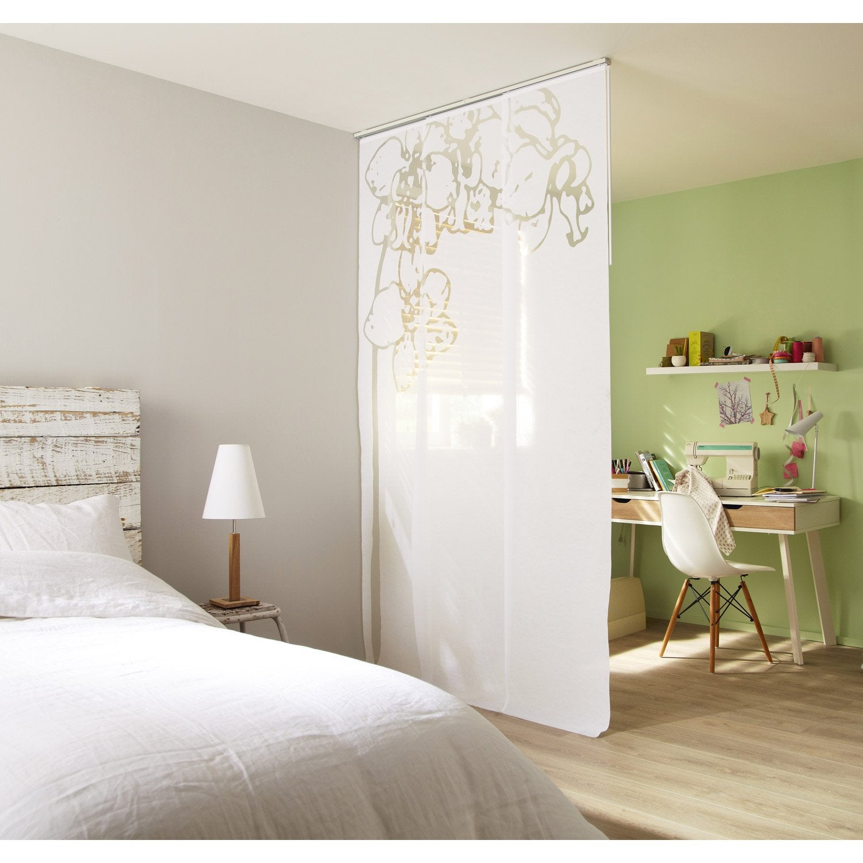 Lot de 3 panneaux japonais Orchidée, blanc, 250 x 50 cm | Leroy Merlin