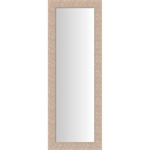 Miroir dublin ch ne clair 40x140 cm leroy merlin for Miroir largeur 40 cm
