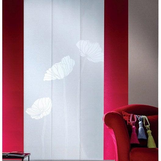 Lot de 3 panneaux japonais coquelicot blanc 250 x 50 cm leroy merlin - Leroy merlin panneaux japonais ...