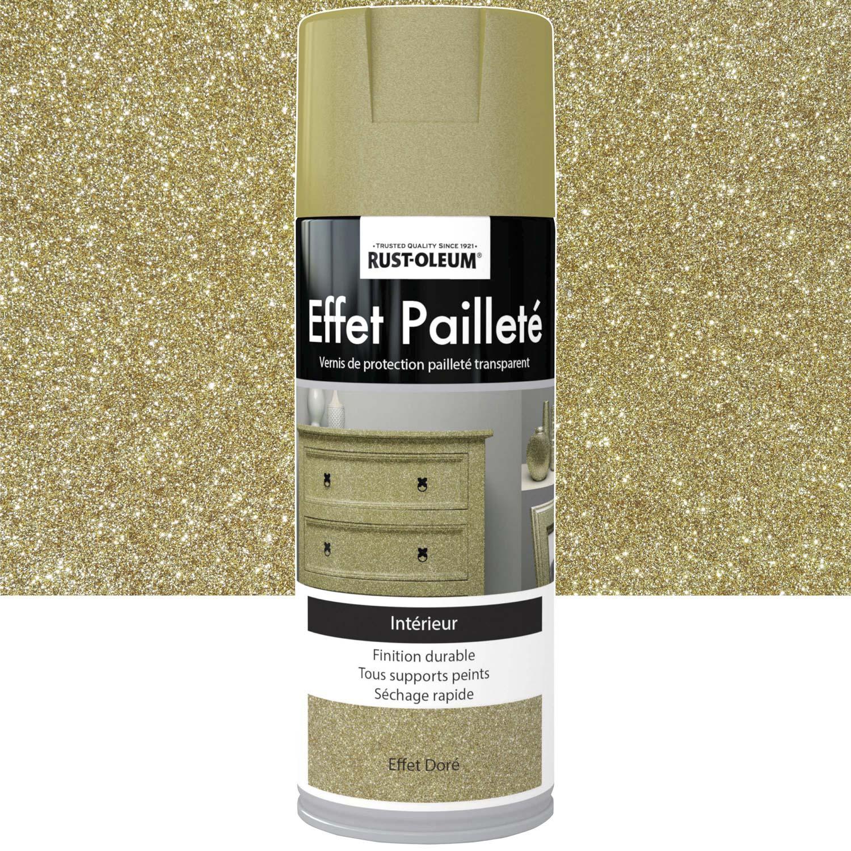 Peinture A Paillette Pour Meuble peinture aérosol effet paillettes pailleté rustoleum, doré, 0.4 l