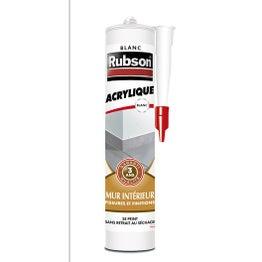 Mastic d'étanchéité RUBSON mur intérieur Finition 280 ml blanc