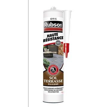 Mastic d'étanchéité RUBSON sol terrasse Haute résistance 280 ml gris