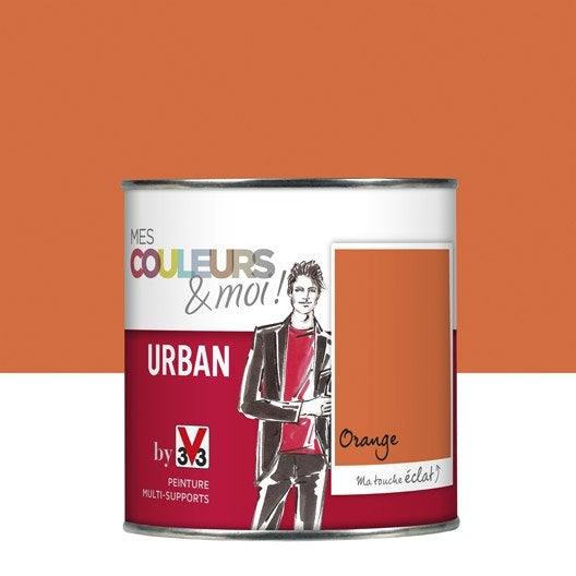 peinture orange v33 mes couleurs et moi urban 0 5 l leroy merlin. Black Bedroom Furniture Sets. Home Design Ideas