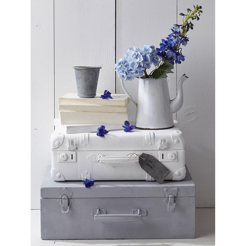 Set de 4 images Valises et fleurs l.30 x H.40 cm
