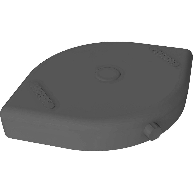 dalle pour parasol excentr lester lesto gris leroy merlin. Black Bedroom Furniture Sets. Home Design Ideas