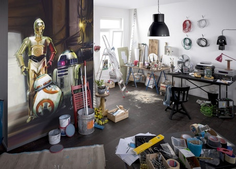 Un atelier original avec la photo des droïds de Star Wars