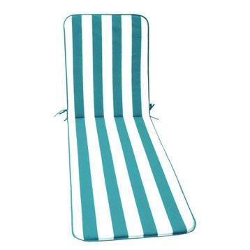 Coussin de bain de soleil blanc / bleu  biarritz