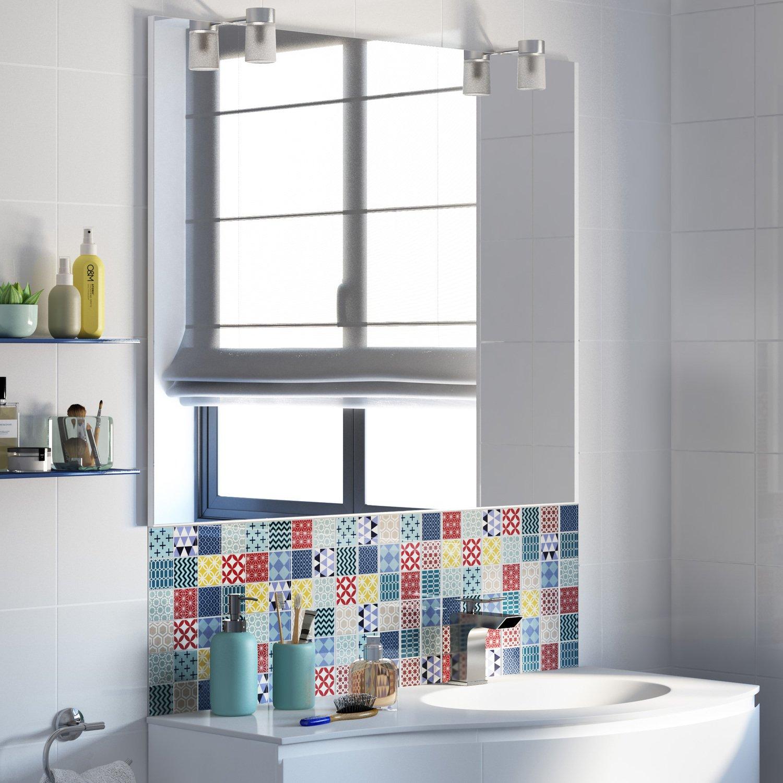 Carrelage Salle De Bain Avec Mosaique habiller le lavabo de la salle de bain avec un carrelage