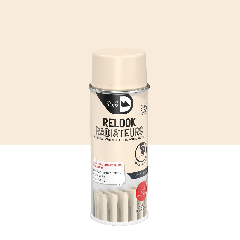 High Quality Peinture En Bombe Aérosol Relook Radiateur Satin MAISON DECO, Blanc Cassé,  0.4 L