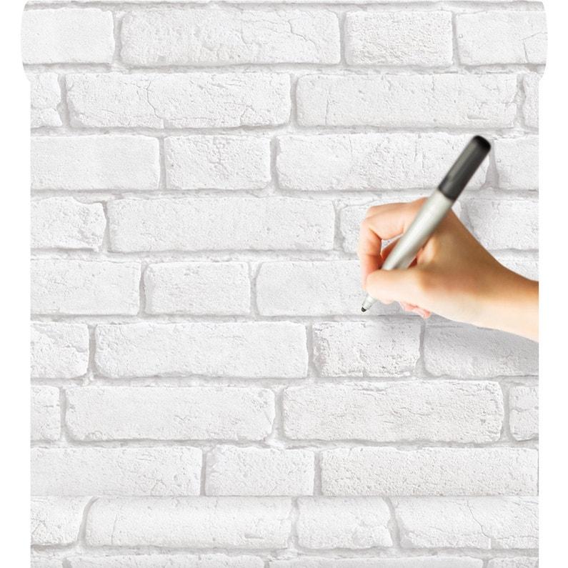 Papier Peint Effacable Vinyle Blanc Leroy Merlin