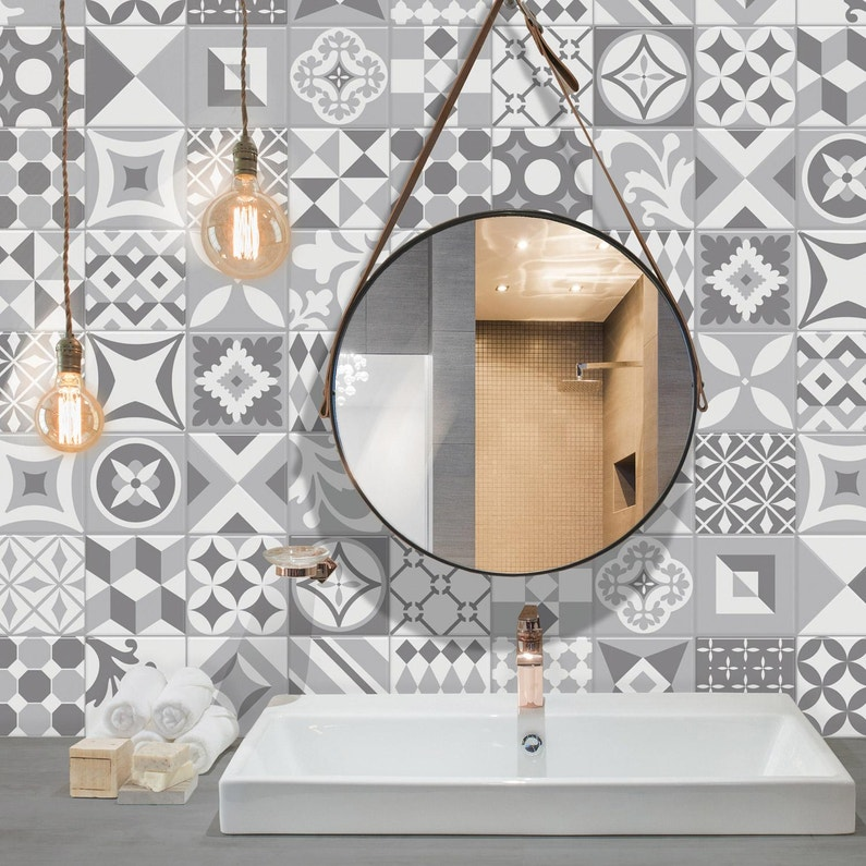 Lot De 6 Crédences Adhésives Smart Tiles Vintage Gallo 22 86x22 86 Cm