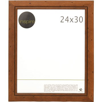 Cadre Saranca, 24 x 30 cm, marron