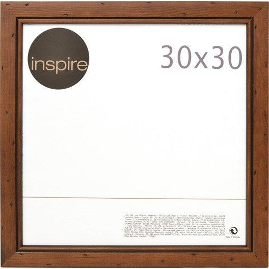 cadre bois inspire saranca 30 x 30 cm marron leroy merlin. Black Bedroom Furniture Sets. Home Design Ideas