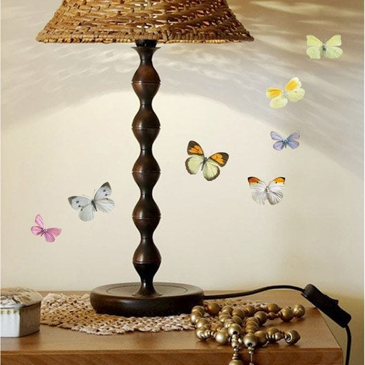 sticker mini papillons 10 6 cm x 16 8 cm leroy merlin. Black Bedroom Furniture Sets. Home Design Ideas