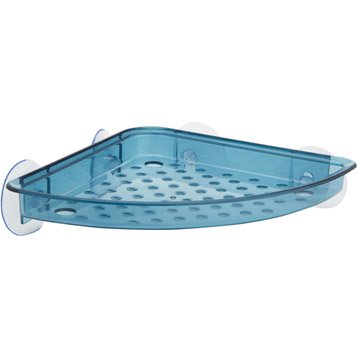 Etagère de bain / douche d'angle à ventouser, bleu, Play