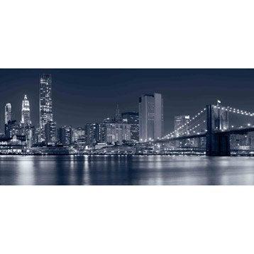 Façade pour applique à composer Brooklyn, verre noir, INSPIRE