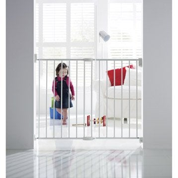 Barrière de sécurité enfant MUNCHKIN métal, L.63.5/102 cm, H.68 cm