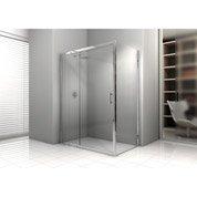 Porte de douche coulissante 116/122 cm profilé chromé, Elyt 2 pnx