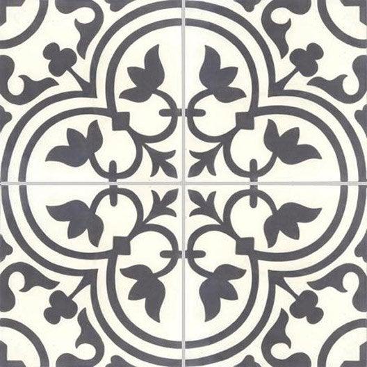 lot de 4 carreaux de ciment normandie noir et blanc. Black Bedroom Furniture Sets. Home Design Ideas