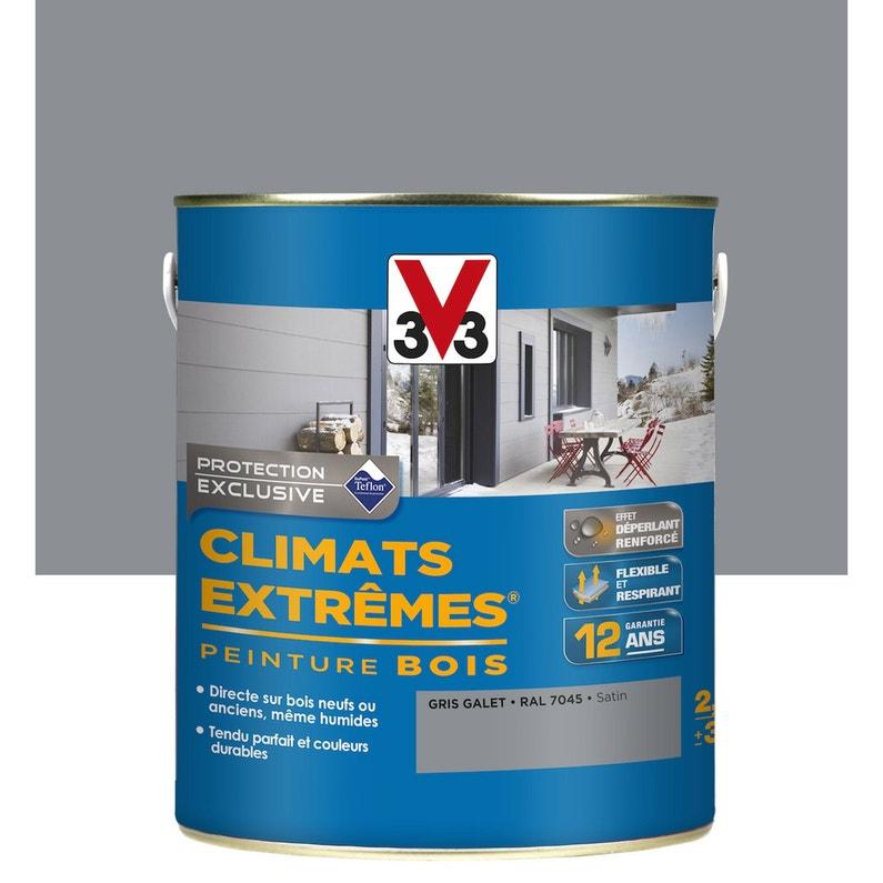 Peinture Bois Exterieur Climats Extremes V33 Gris Galet 2 5 L