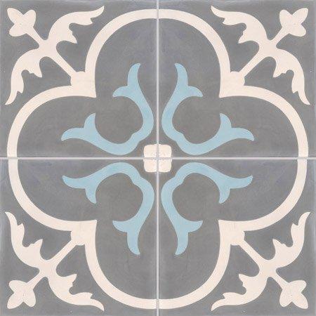4 Cx Ciment 20x20 Chateau Gris Bleu Lot Leroy Merlin