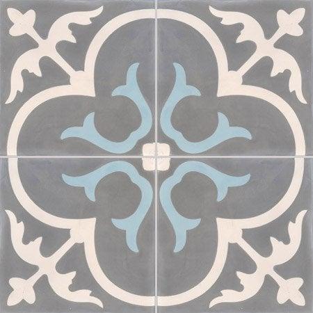 Carreau de ciment premium ch teau gris bleu 40 x 40 cm for Carrelage 40 40