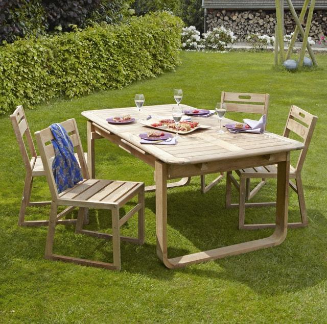 table de jardin romantique ronde gris graphithe 4 personnes leroy merlin. Black Bedroom Furniture Sets. Home Design Ideas
