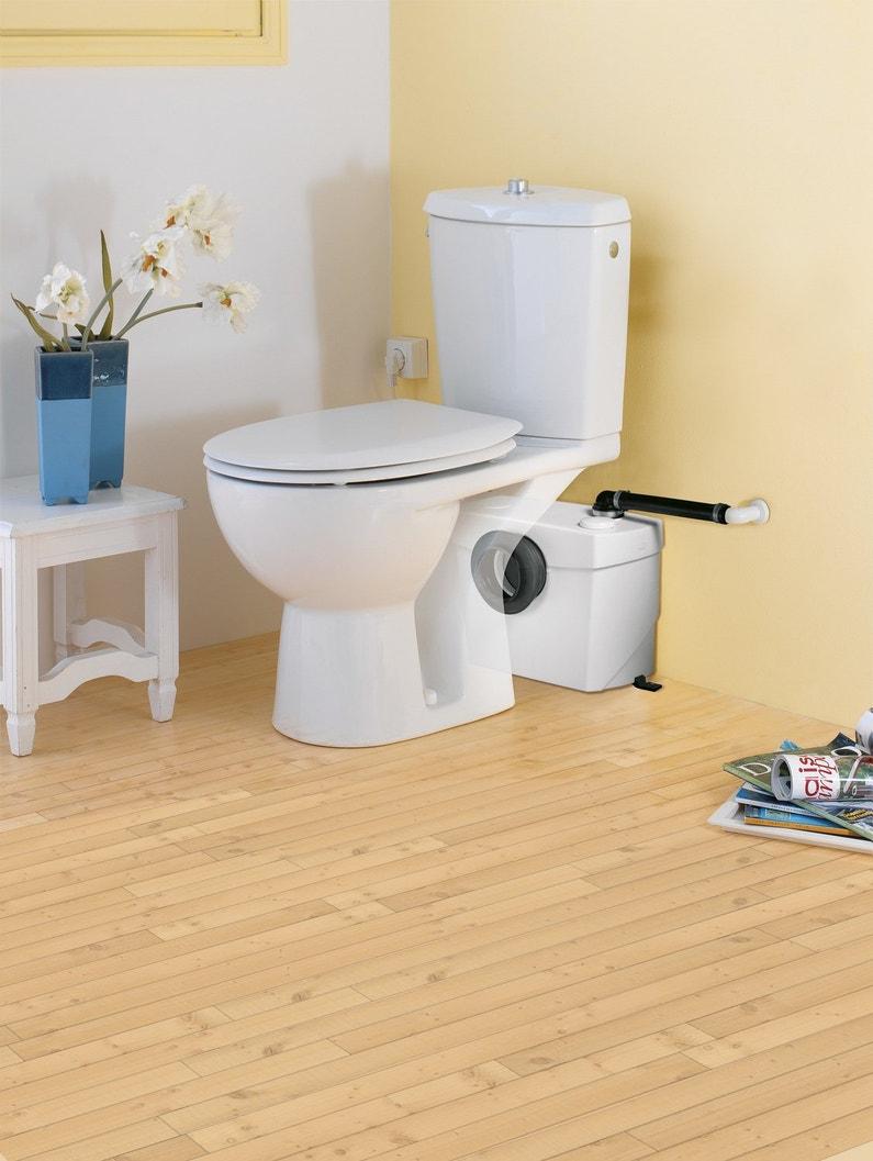 un wc d 39 appoint avec le sanibroyeur leroy merlin. Black Bedroom Furniture Sets. Home Design Ideas