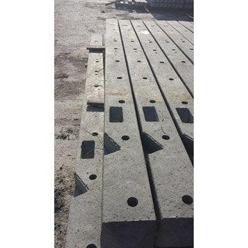 Poteau droit pour clôture en béton pleine, L.175 x H.175 cm x Ep.100 mm